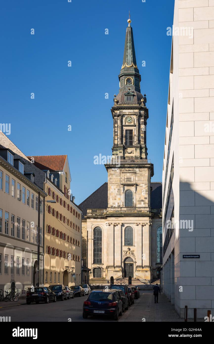 Christian's Church, Christianshavn, Copenhagen, Denmark - Stock Image