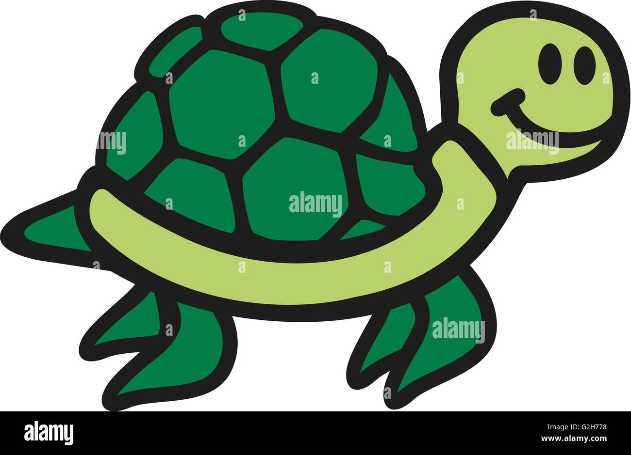 cartoon turtles swimming