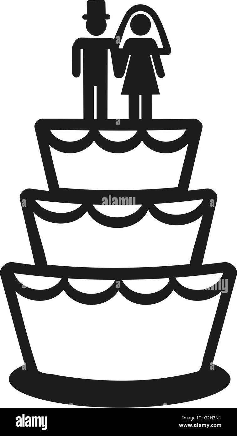 Wedding Cake Icon Stock Photo 104870781 Alamy