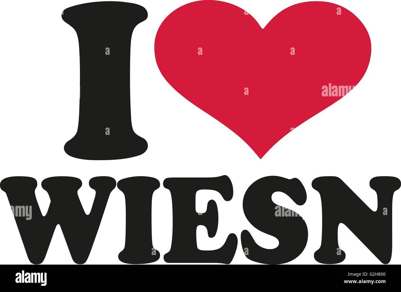 I heart wiesn - Stock Image