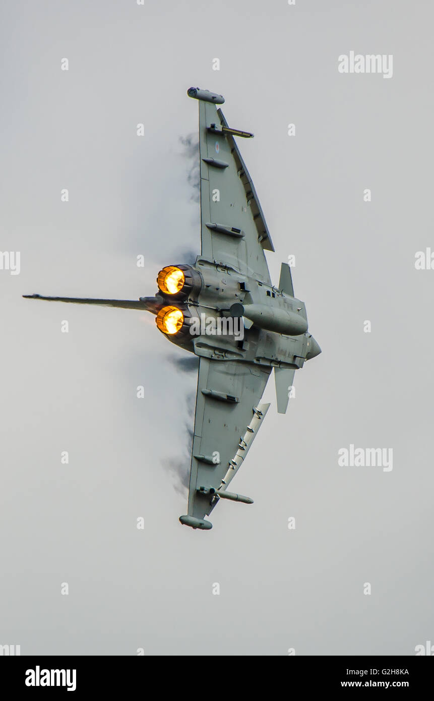 Eurofighter Typhoon is a twin-engine, canard-delta wing, multirole fighter.The Typhoon is in service with the RAF. - Stock Image