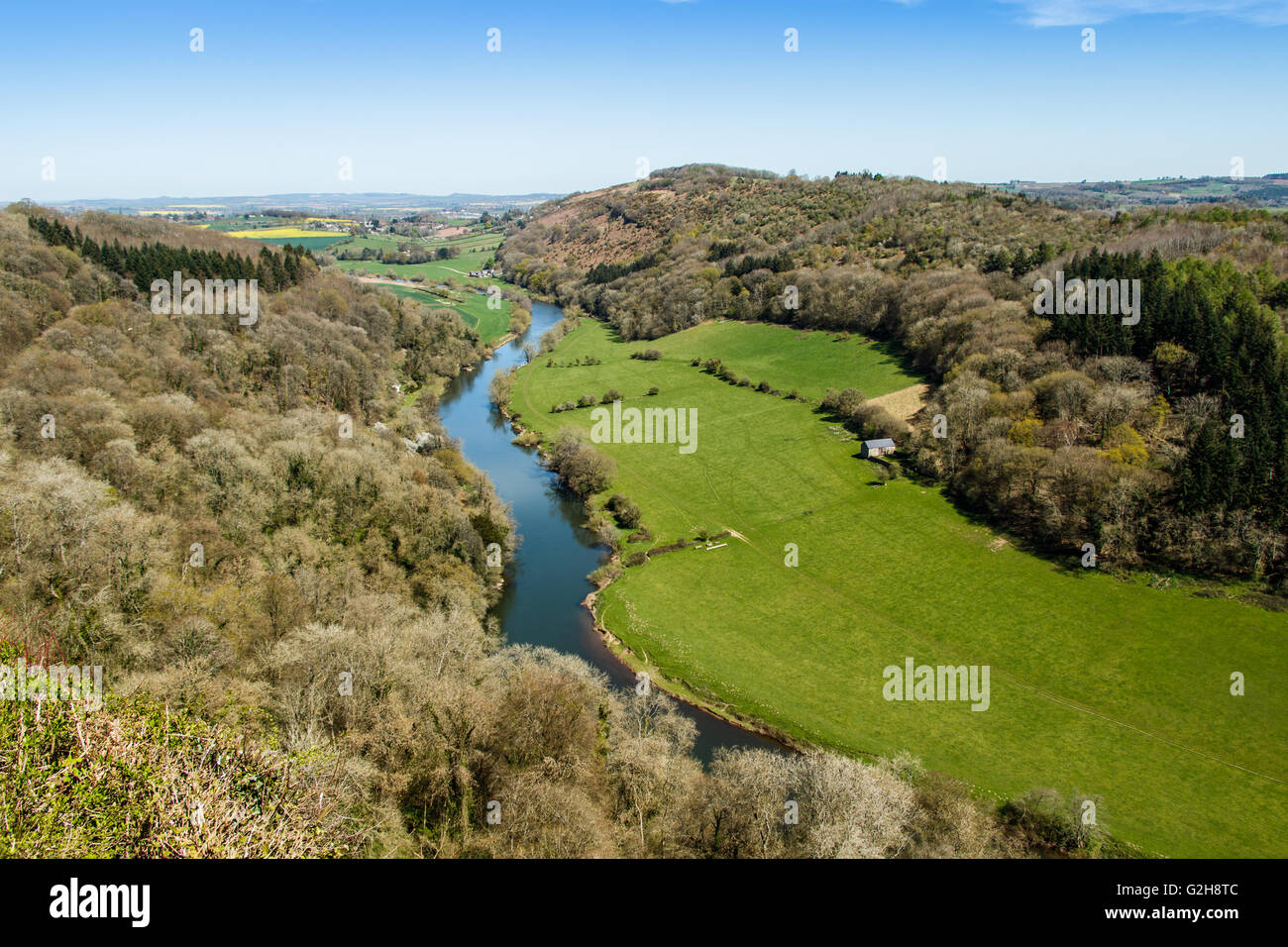 The Wye Valley from Symonds Yat Rock - Stock Image