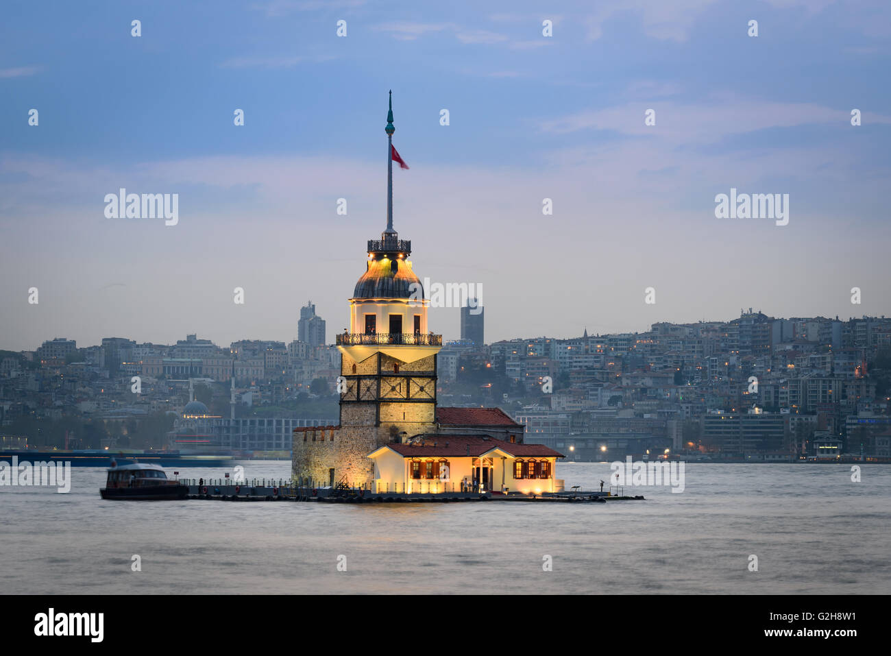 Maiden's Tower is one of Istanbul's most instantly recognizable landmarks. - Stock Image