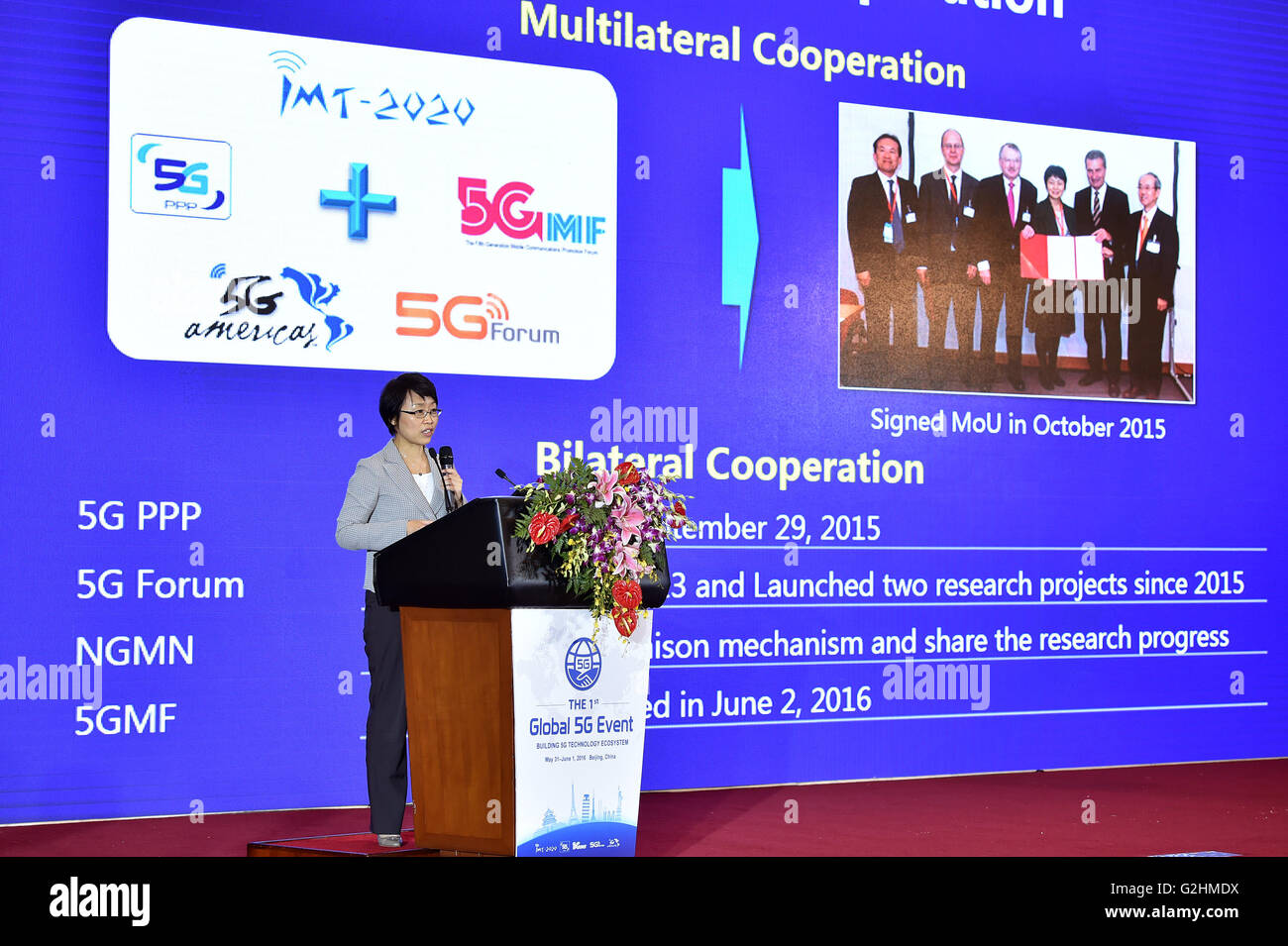 Beijing, China  31st May, 2016  Cao Shumin, head of IMT-2020 (5G