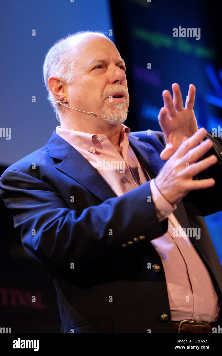 Hay Festival, Wales, UK - June 2016 -  Timothy Jorgensen associate professor of radiation medicine at Georgetown - Stock Image
