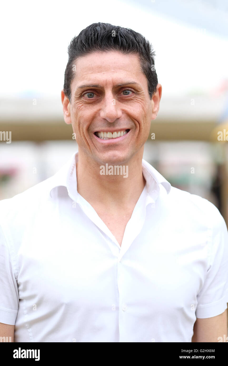 Hay Festival, Wales, UK - Wednesday 1st June 2016 -  Actor and TV personality CJ de Mooi was a visitor to the Hay - Stock Image