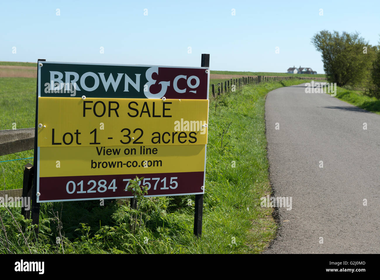 Brown & Co land for sale sales board - Stock Image