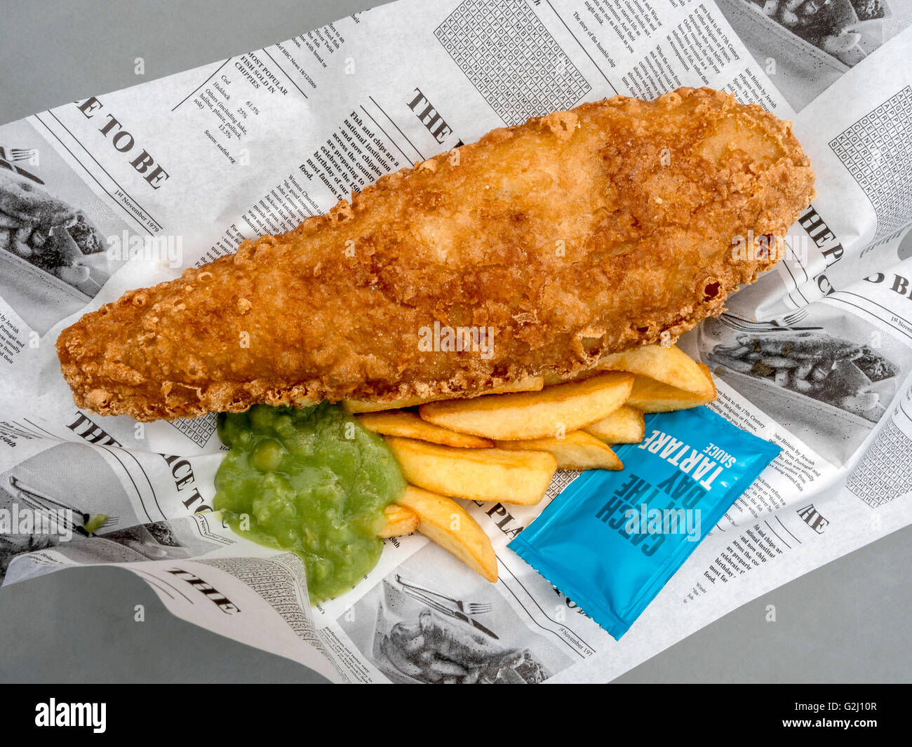 Fish and chips, typical British food, United Kingdom, Europe - Stock Image