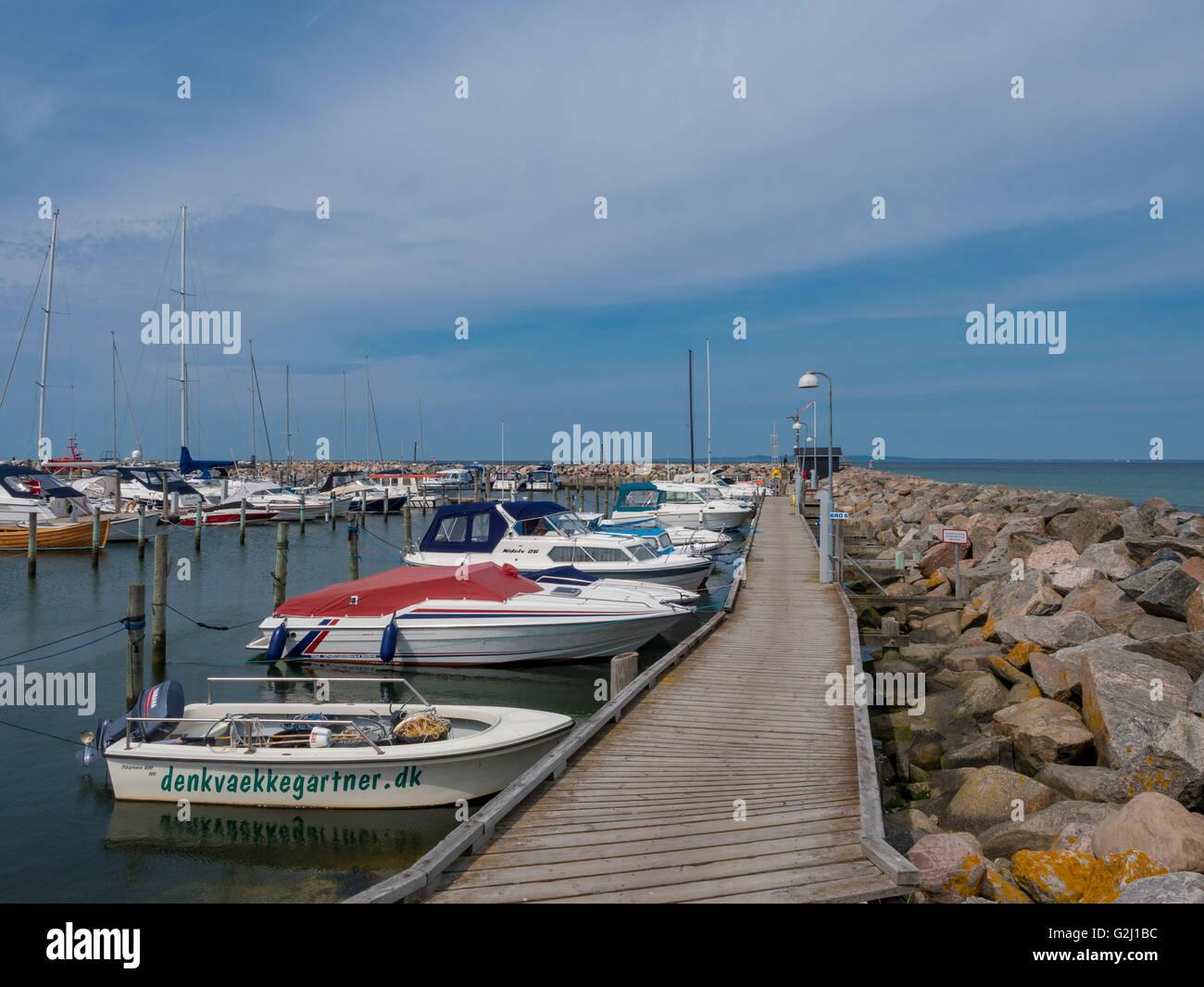 Hornbaek Harbour, North Zealand, Denmark, Scandinavia, Europe - Stock Image