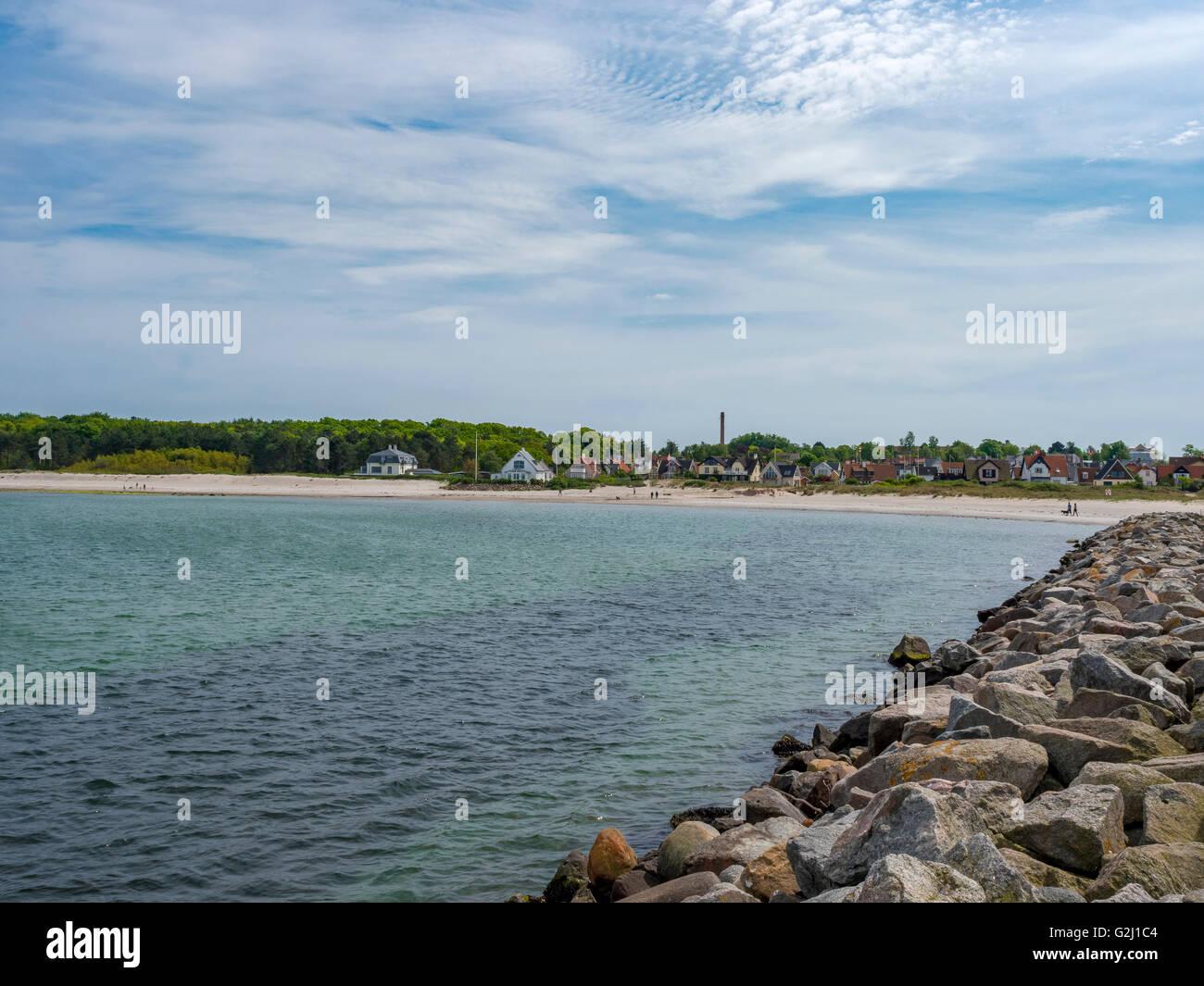 Hornbaek Beach, North Zealand, Denmark, Scandinavia, Europe - Stock Image