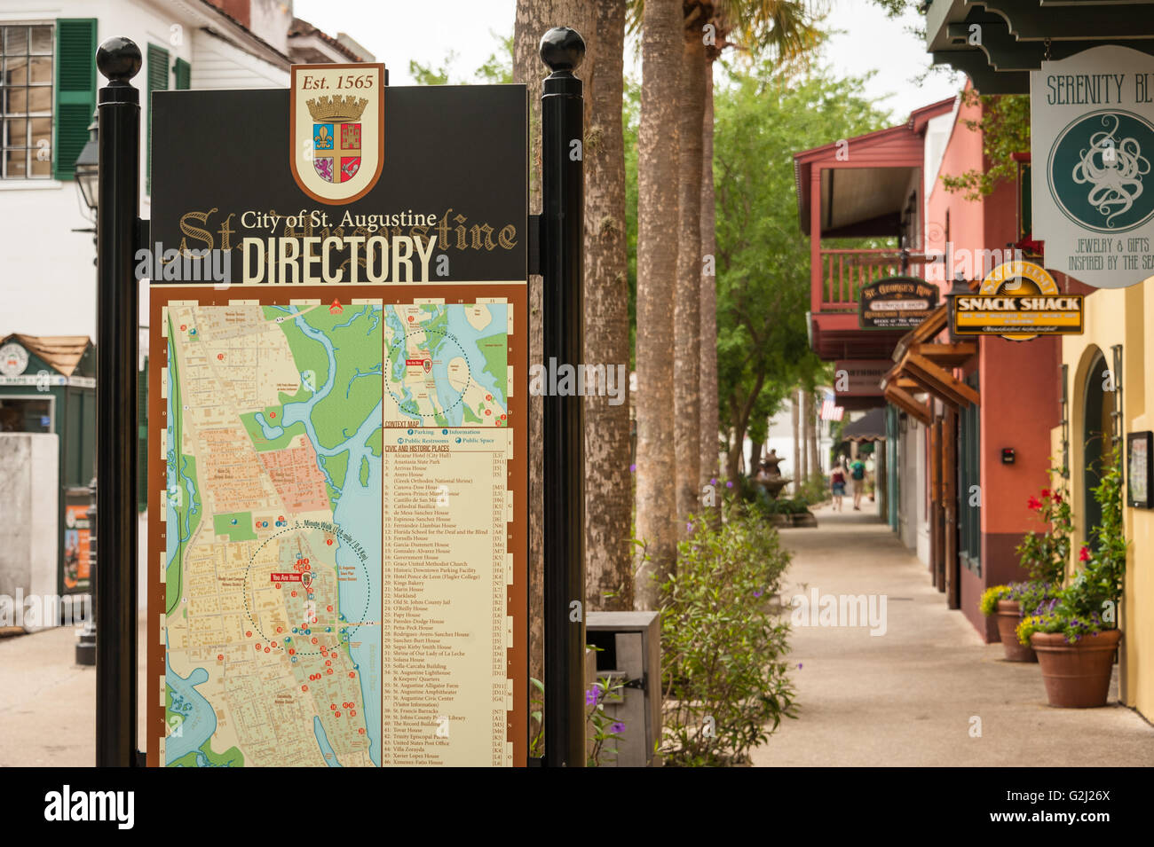 d7101d43a St. Augustine directory sign on St. George Street in America s oldest city.  -