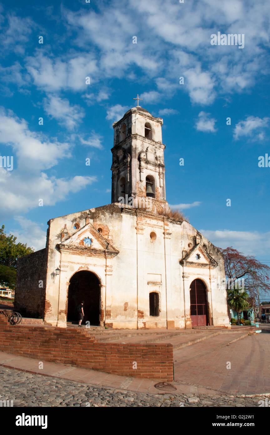 Ruins of Santa Ana Church, Trinidad (Unesco World Heritage), Cuba. - Stock Image