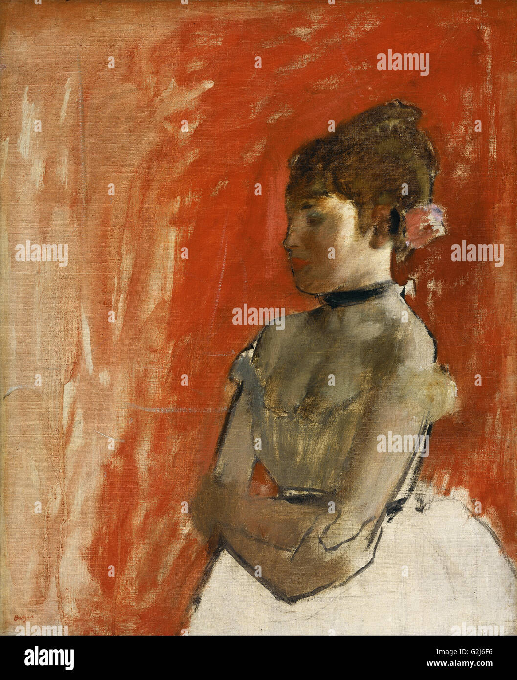 Edgar Degas - Ballet Dancer with Arms Crossed - Stock Image
