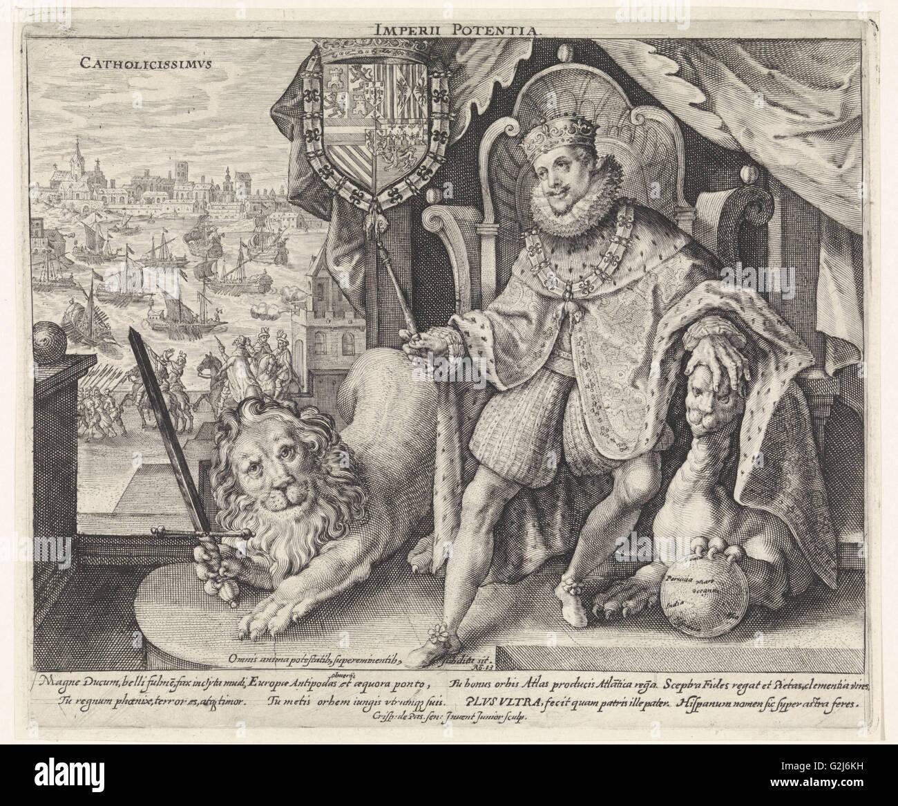 Philip III, Crispijn van de Passe (II), 1611 Stock Photo