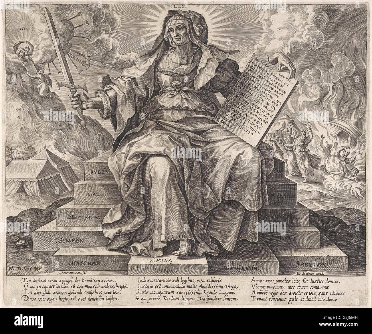De Spiegel Vof.The Silver Age The Law Of The Old Testament Hieronymus Wierix
