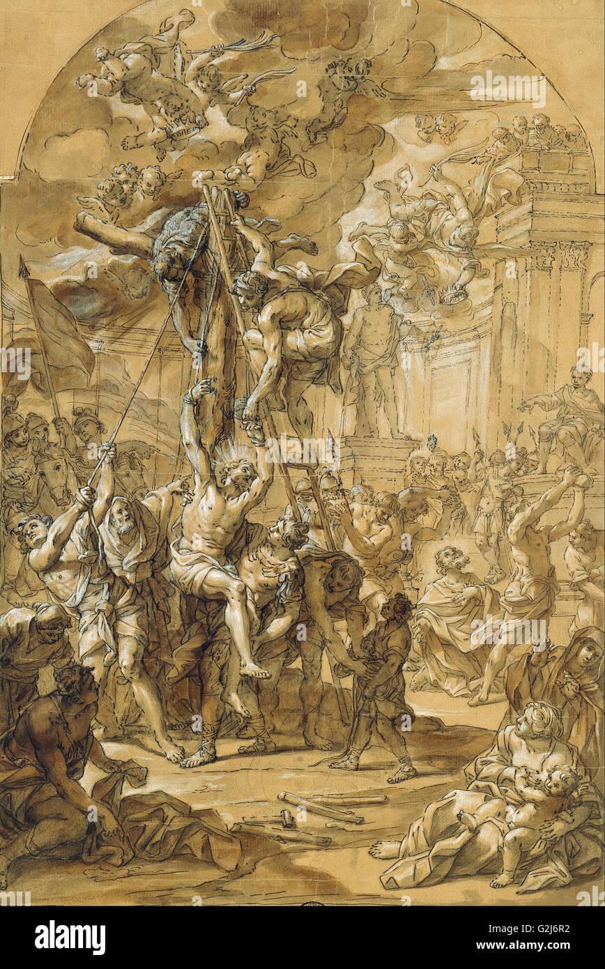 Giovanni Odazzi - The Martyrdoms of the Apostles Philip and James the Lesser - Museum Kunstpalast, Düsseldorf - Stock Image