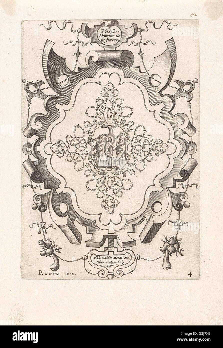 Flagellation of Christ, Hieronymus Wierix, Melchior Model, Pierre Firens, 1608 Stock Photo