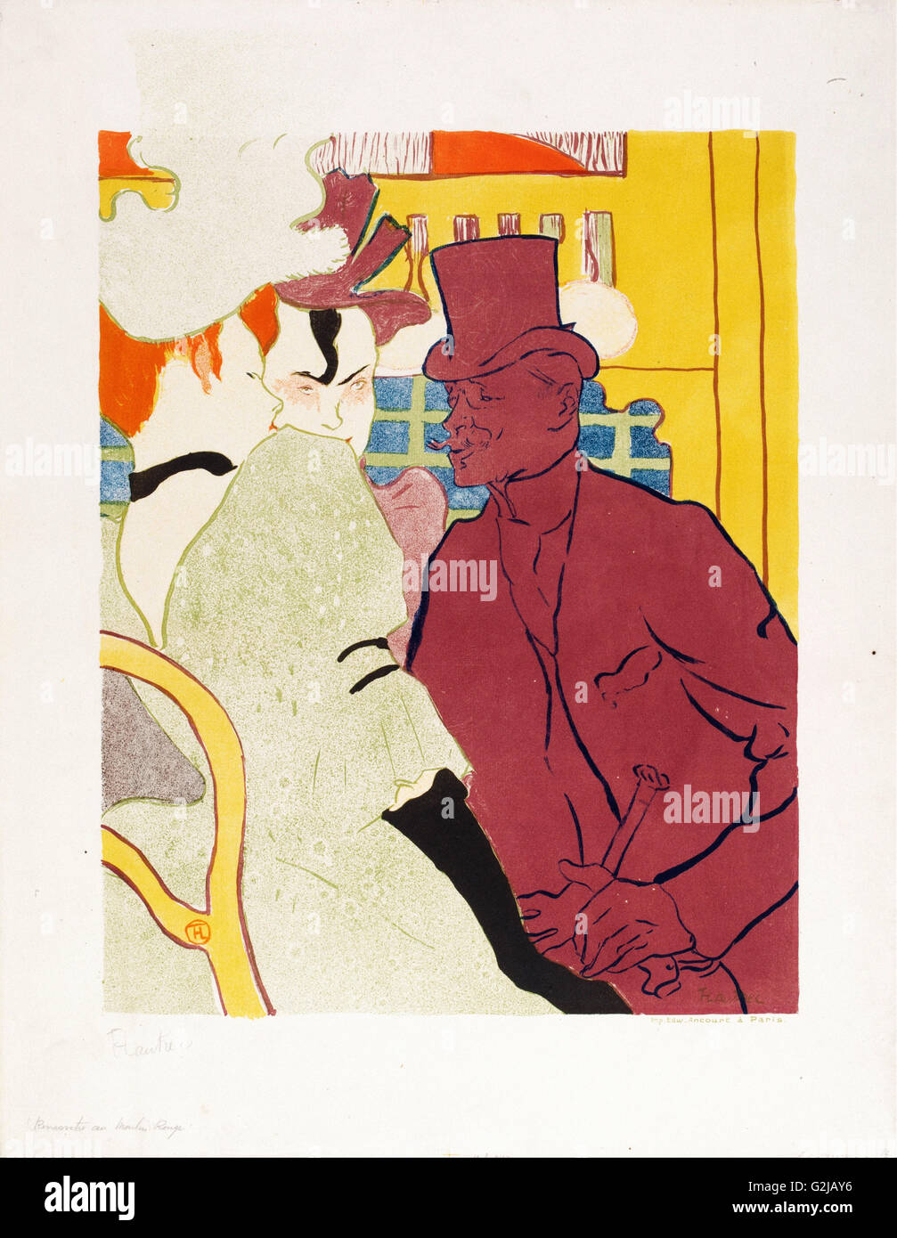 Henri de Toulouse-Lautrec - An Englishman at the Moulin Rouge  - Museum of Fine Arts, Budapest - Stock Image