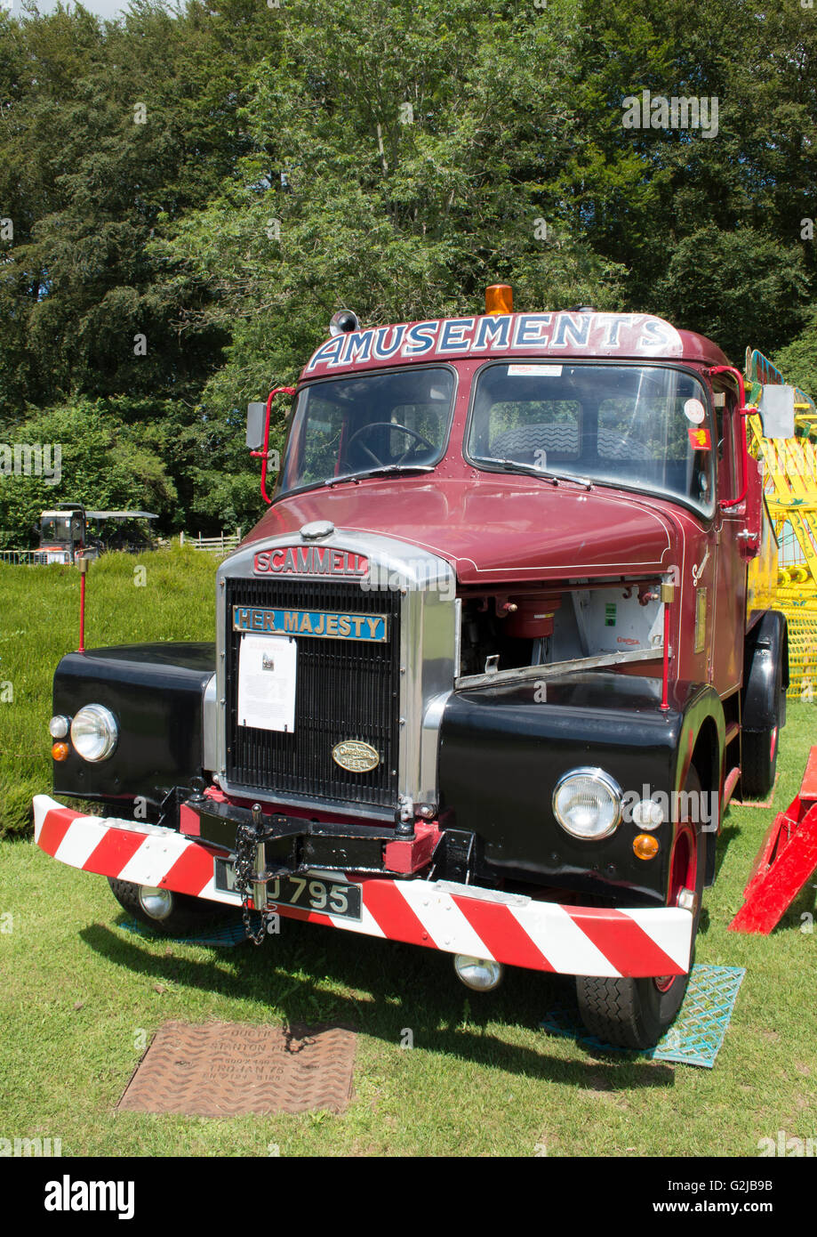 Front view of an old Scammell truck - Stock Image