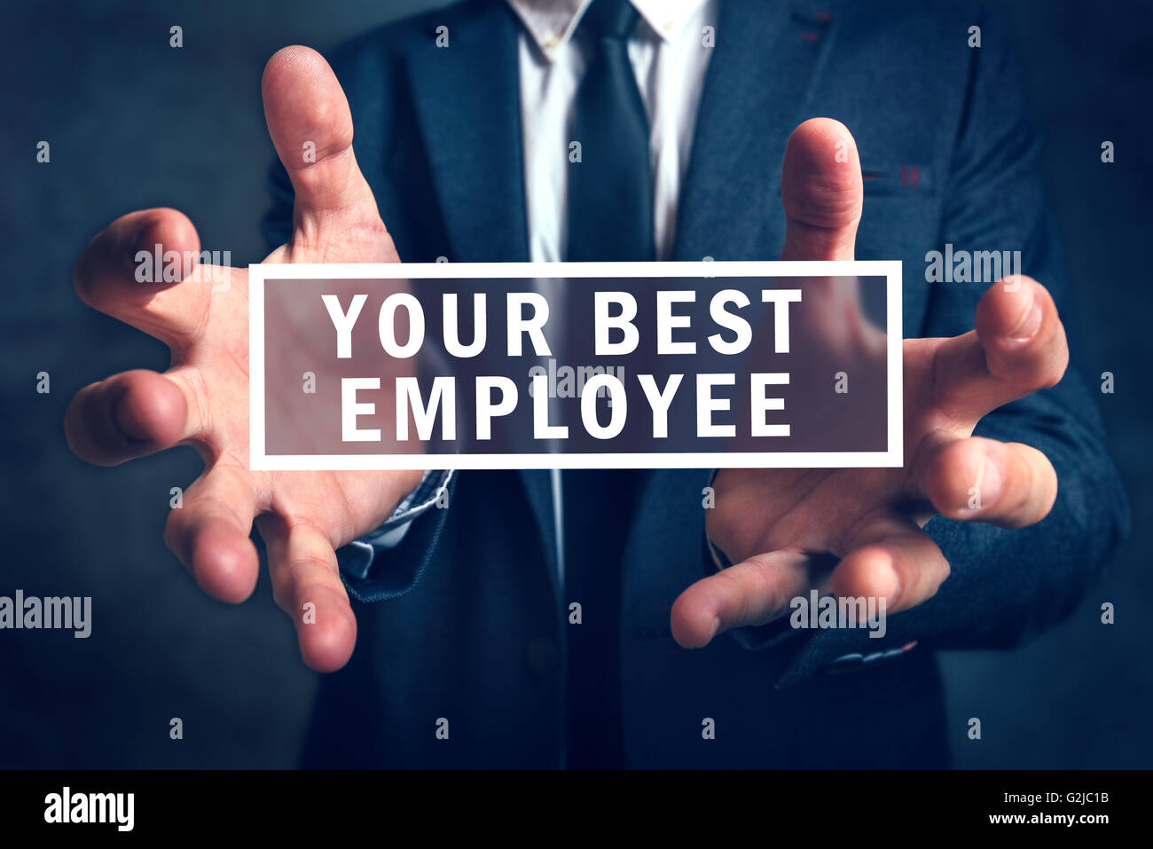 Keep Your Best Employee Concept With Business Manager In Background