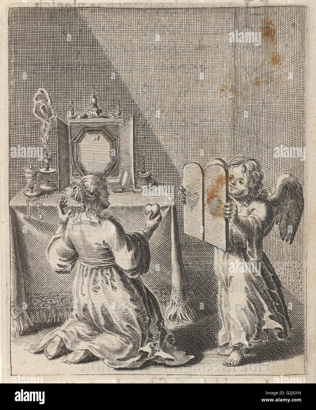 Confession for vanity and pride, print maker: Pieter Nolpe, 1640
