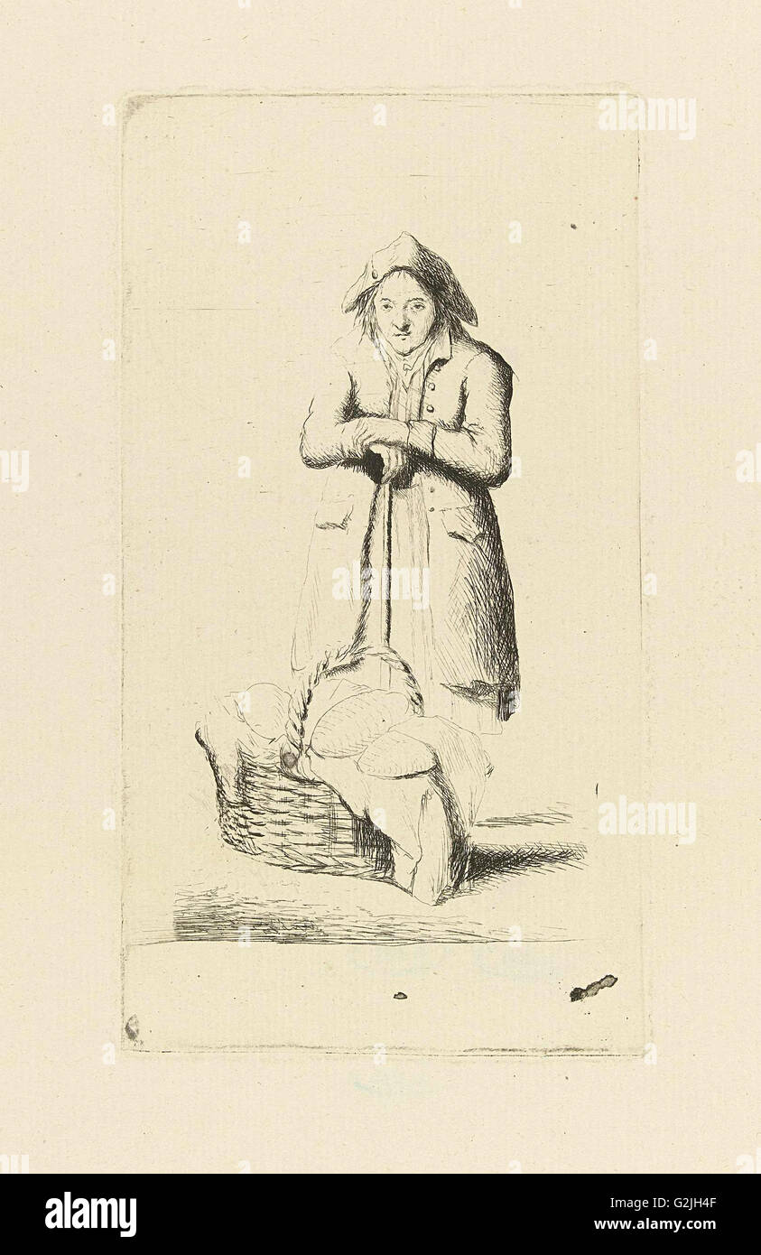Baker with basket of breads, Marie Lambertine Coclers, 1776-1815 - Stock Image