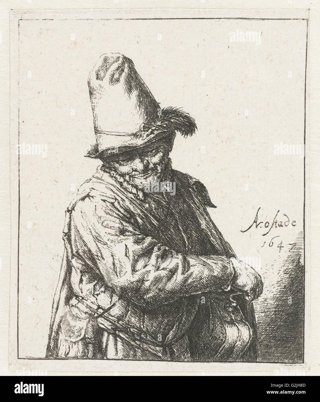 Winch Turner, print maker: Adriaen van Ostade, Adriaen van Ostade, weduwe van Jean Pierre François Basan - Stock Image
