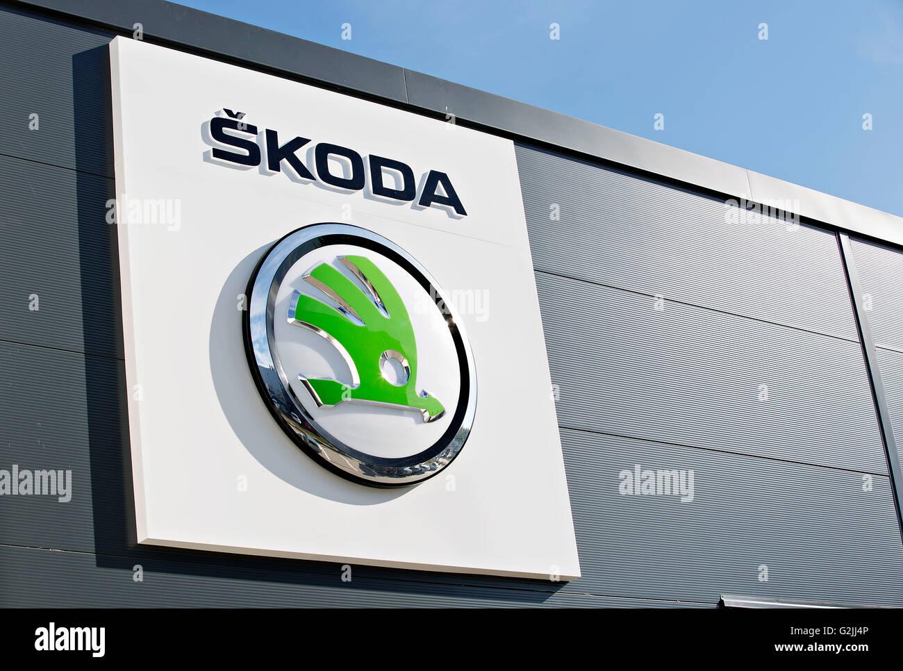 Logo Skoda - Stock Image