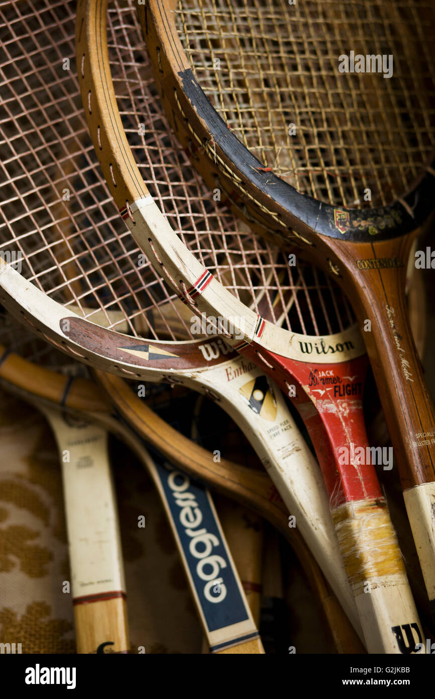 Vintage Tennis Racquets Stock Photo: 104901871 - Alamy