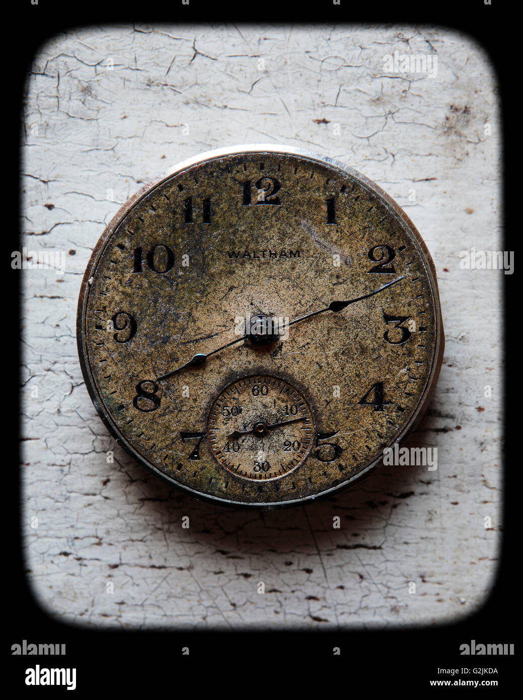 Old Watch Face - Stock Image
