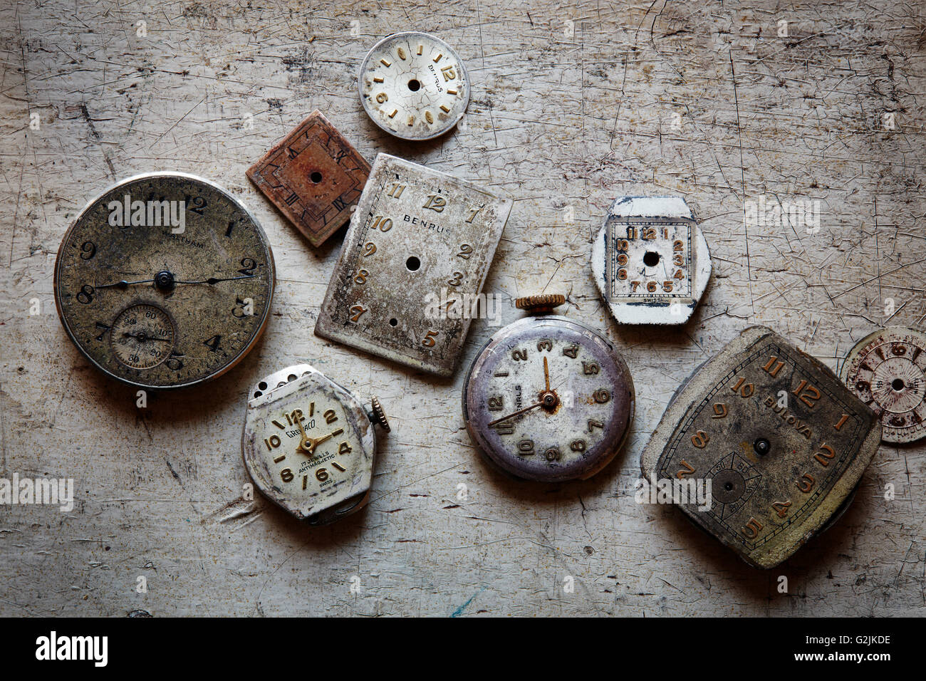 Assortment of Watch Faces - Stock Image