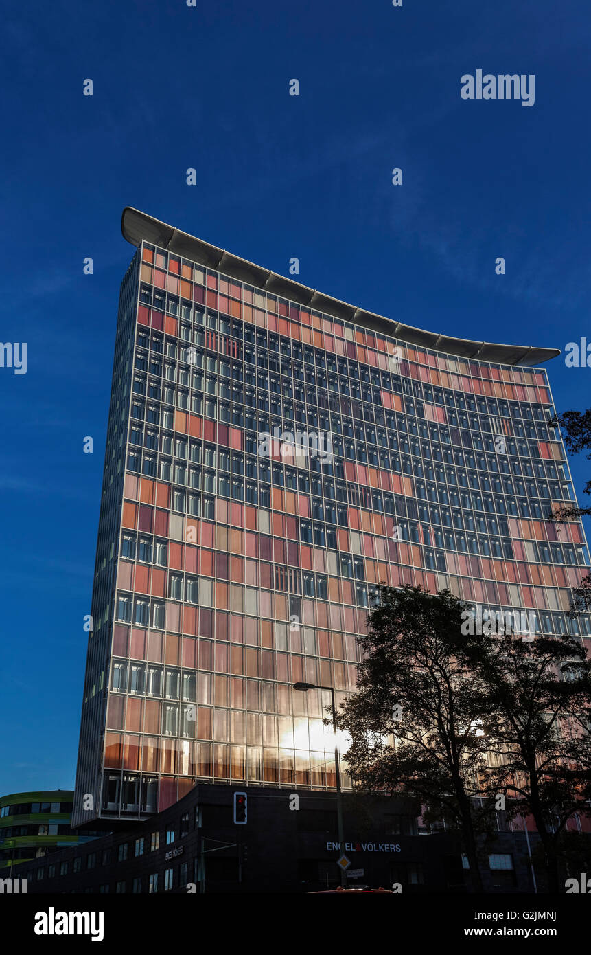 GSW-Hochhaus Building, 1995 Sauerbruch Hutton Architects,  Rudi-Dutschke-Straße Berlin - Stock Image