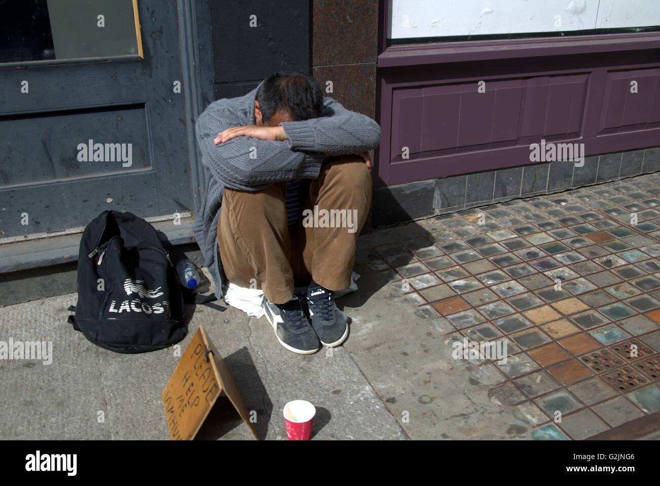 Homeless Begging Stock...