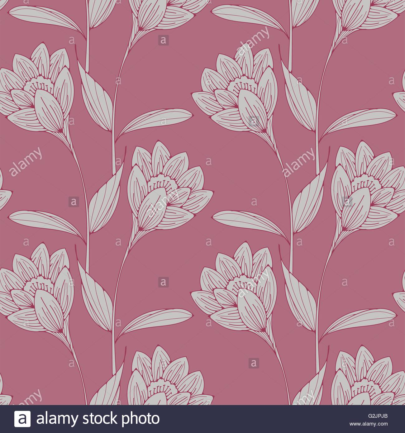 A vintage english style floral wallpaper seamless tiles with stock a vintage english style floral wallpaper seamless tiles with crocus like flowers in old pink shades mightylinksfo