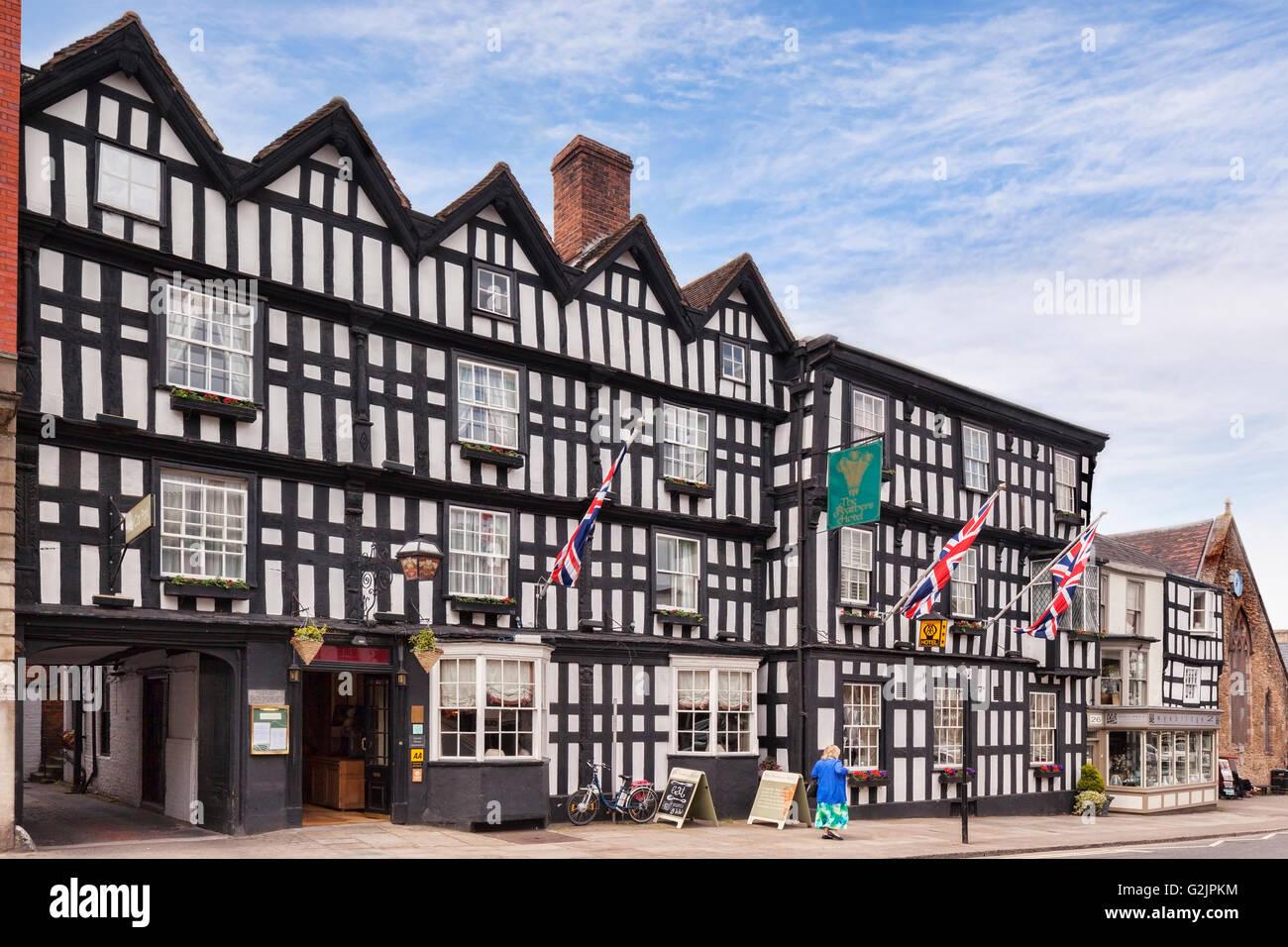 Feathers Hotel, Ledbury, Herefordshire, England, UK - Stock Image