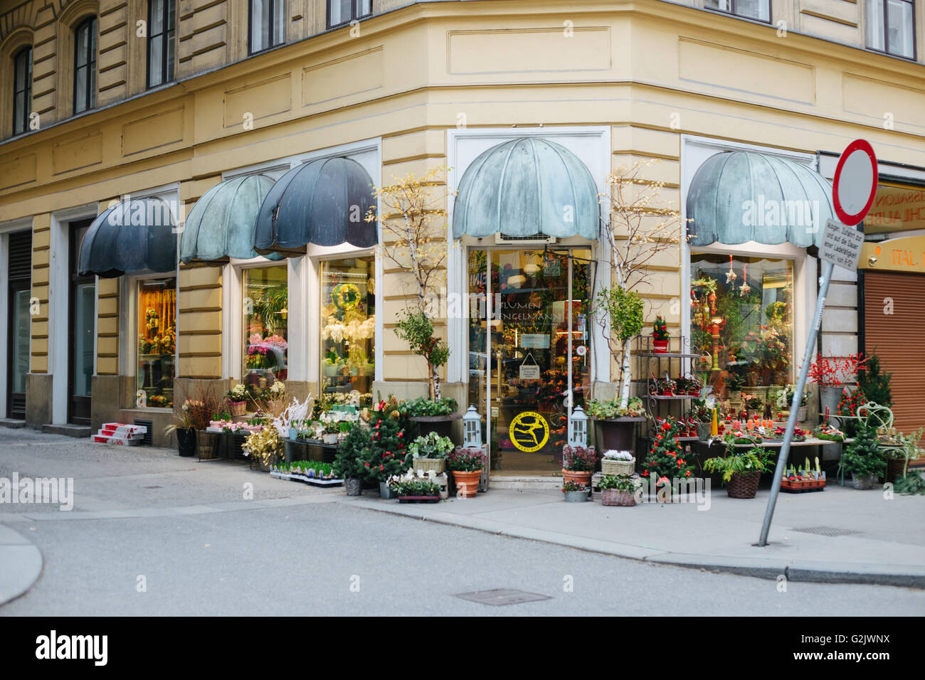 Beautiful flower shop in vienna stock photo 104906870 alamy beautiful flower shop in vienna izmirmasajfo