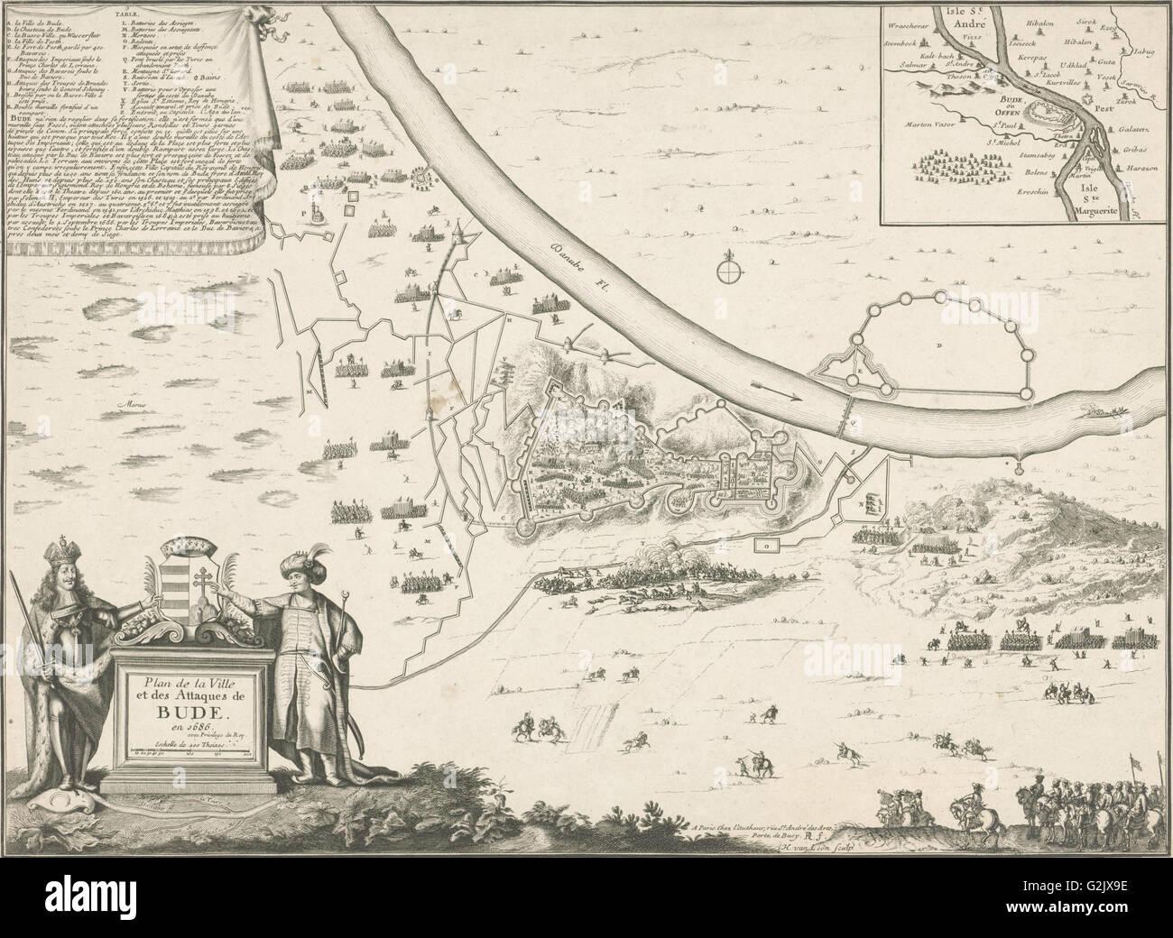 map of buda 1686 harmanus van loon lodewijk xiv koning van frankrijk