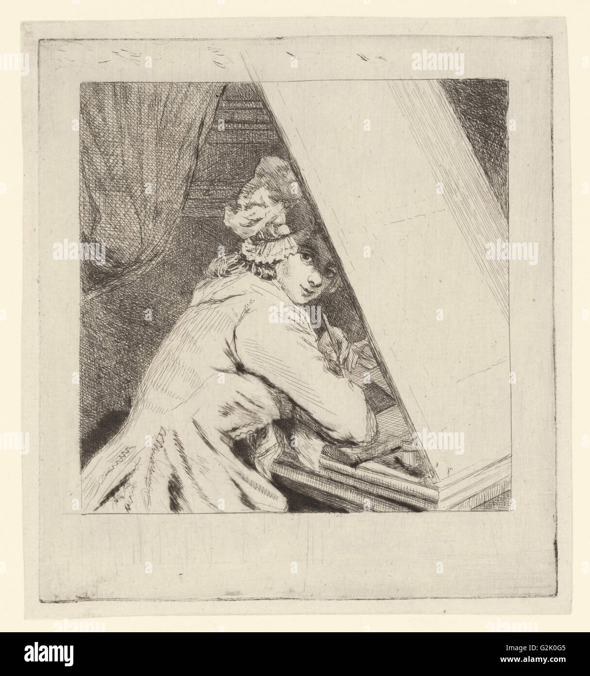 Portrait Marie-Lambertine Coclers, Louis Bernard Coclers, c. 1776 - 1817 - Stock Image