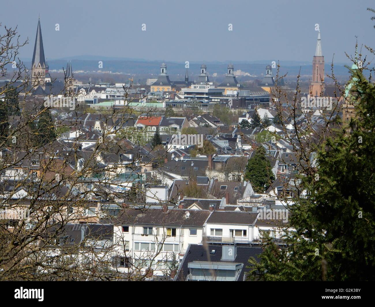 Skyline of Bonn, Germany - Stock Image