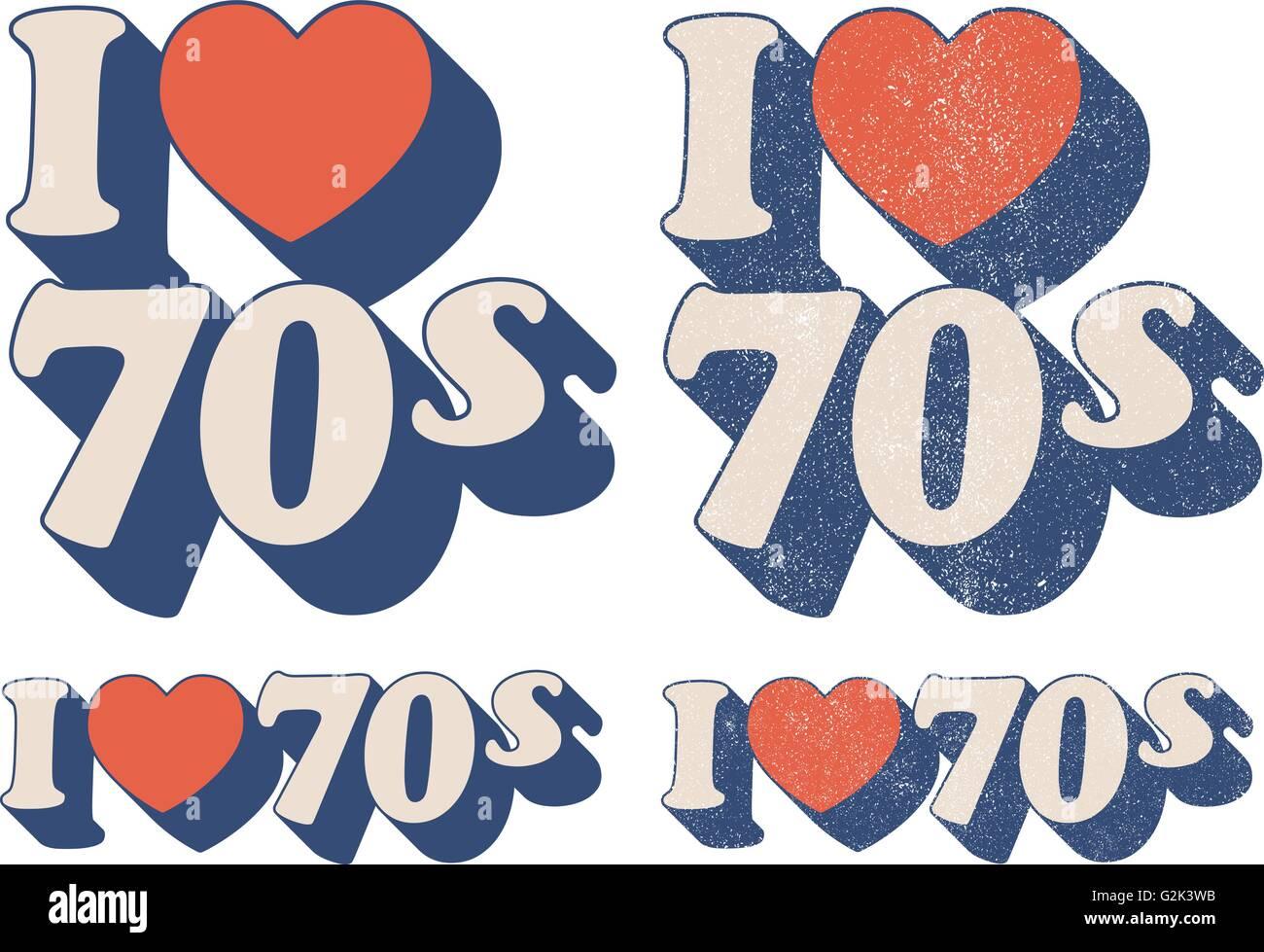 I Love 70s - Stock Image
