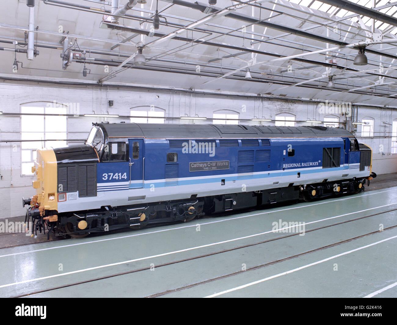 Type 37 Diesel-Electric Locomotive Stock Photo: 104911778