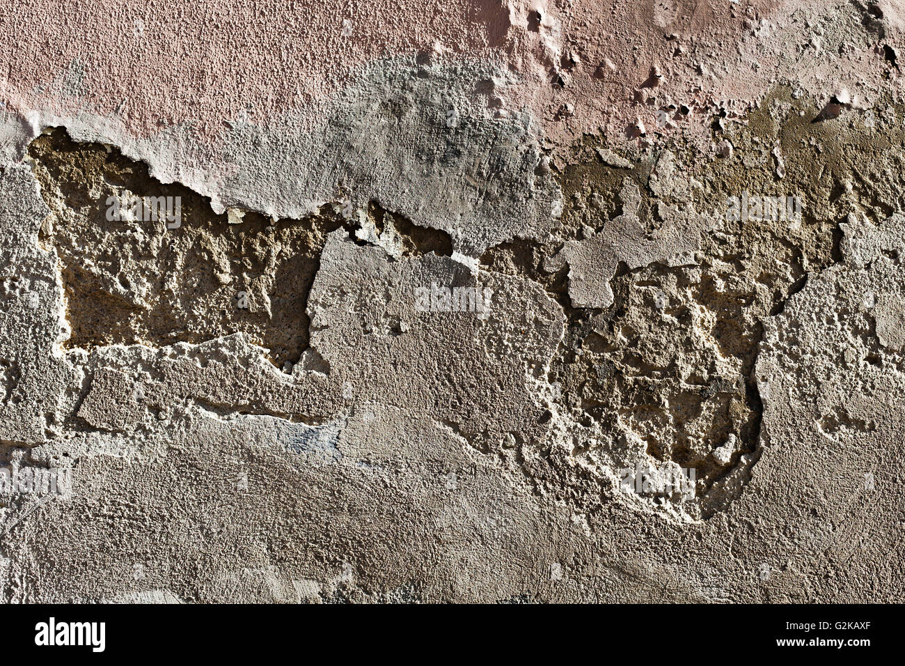 Old brittle masonry - Stock Image