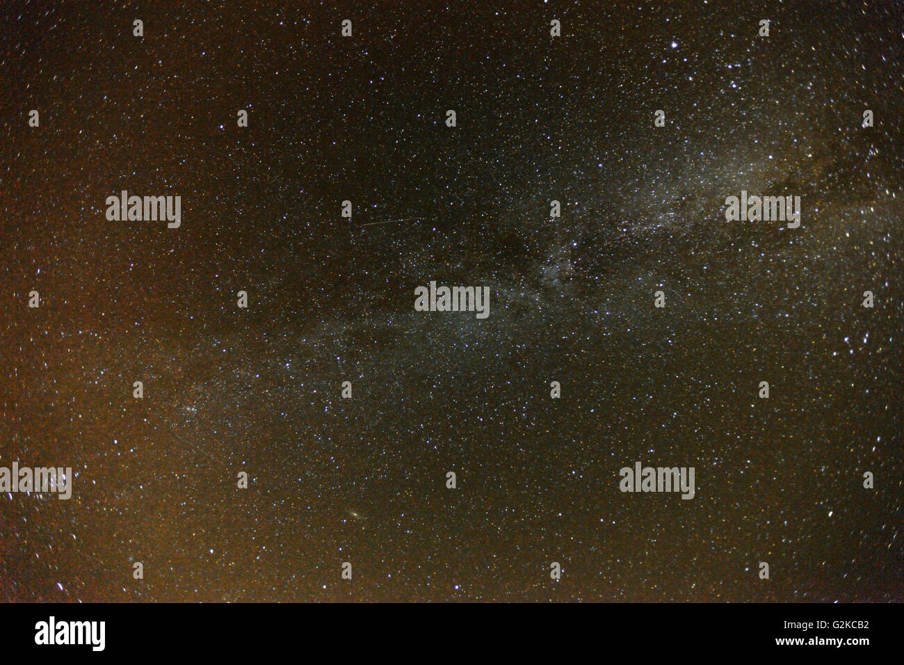 Milky way and stars Grasslands National Park Saskatchewan Canada - Stock Image