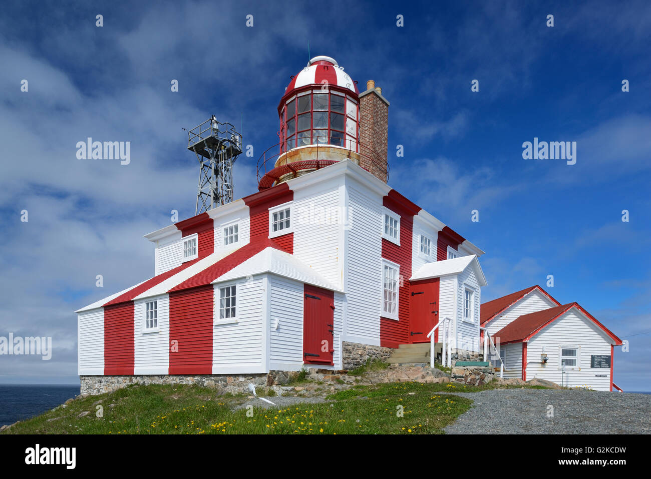 Cape Bonavista Lighthouse on Bonavista Bay in the Atlantic Ocean Cape Bonavista Newfoundland & Labrador Canada - Stock Image