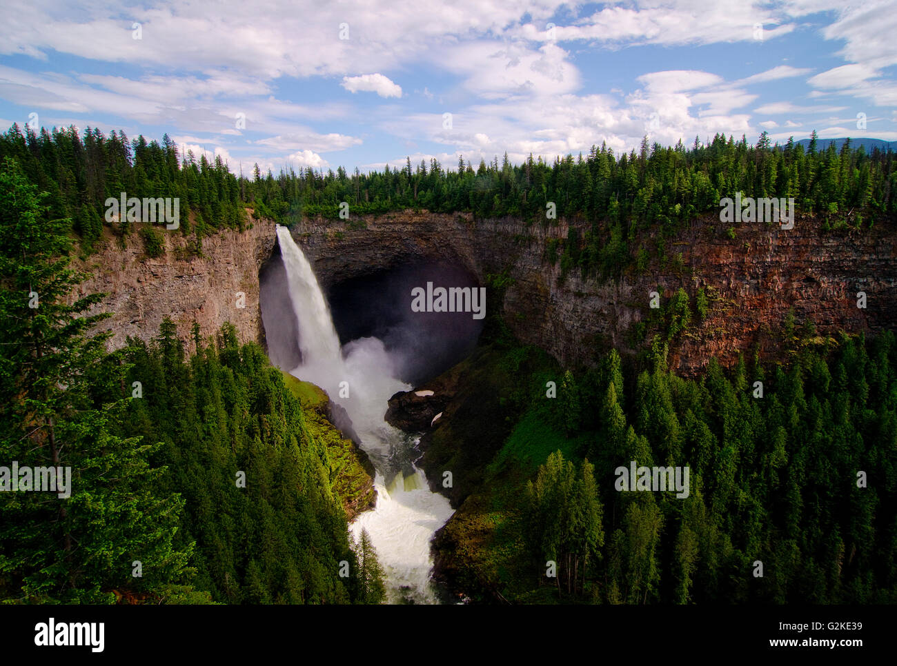 Classic view of Helcken Falls in Wells Gray Provincial Park, in the Thompson Okanagan region of British Columbia, - Stock Image