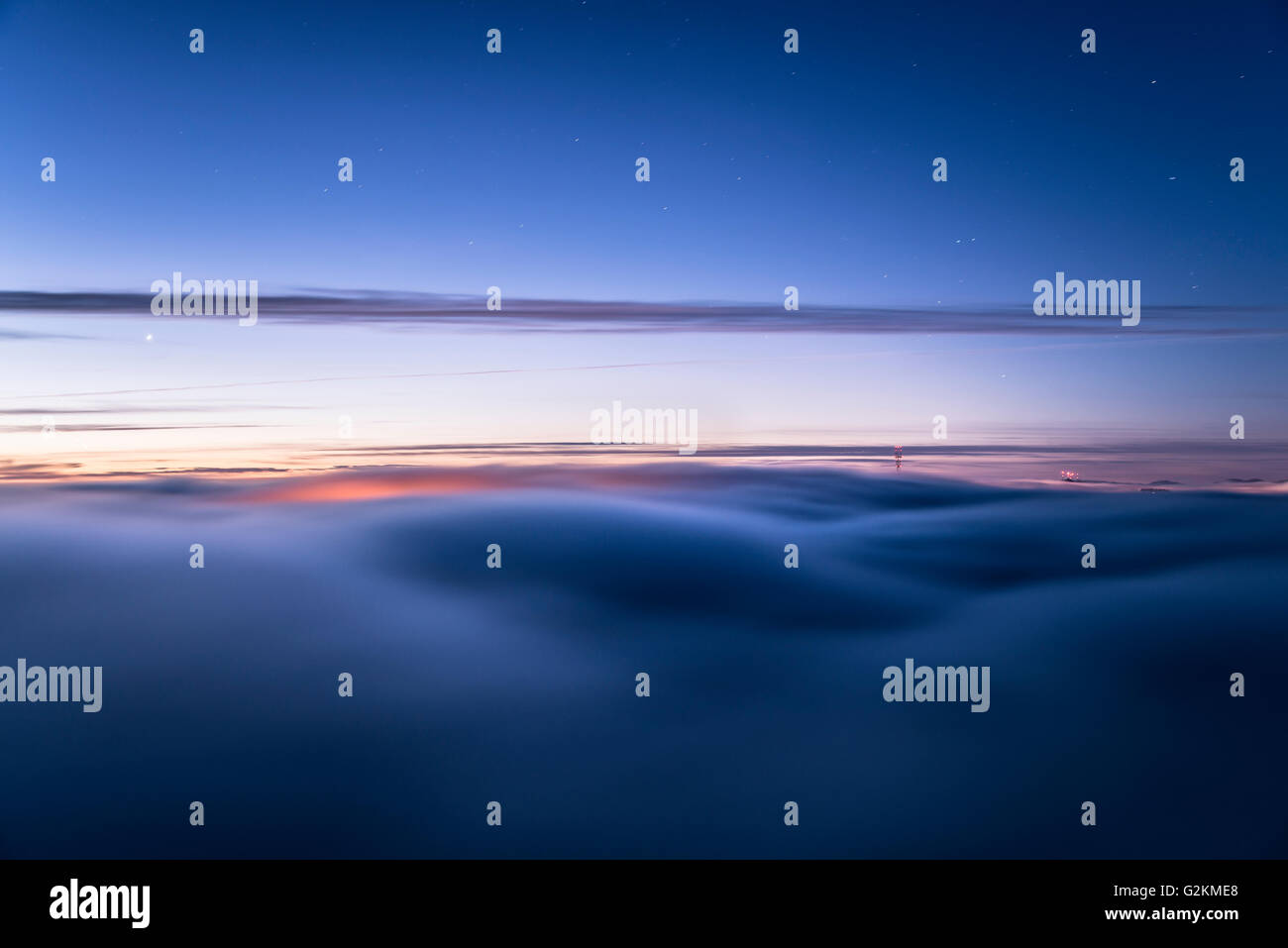 USA, San Francisco, waft of mist in the morning - Stock Image