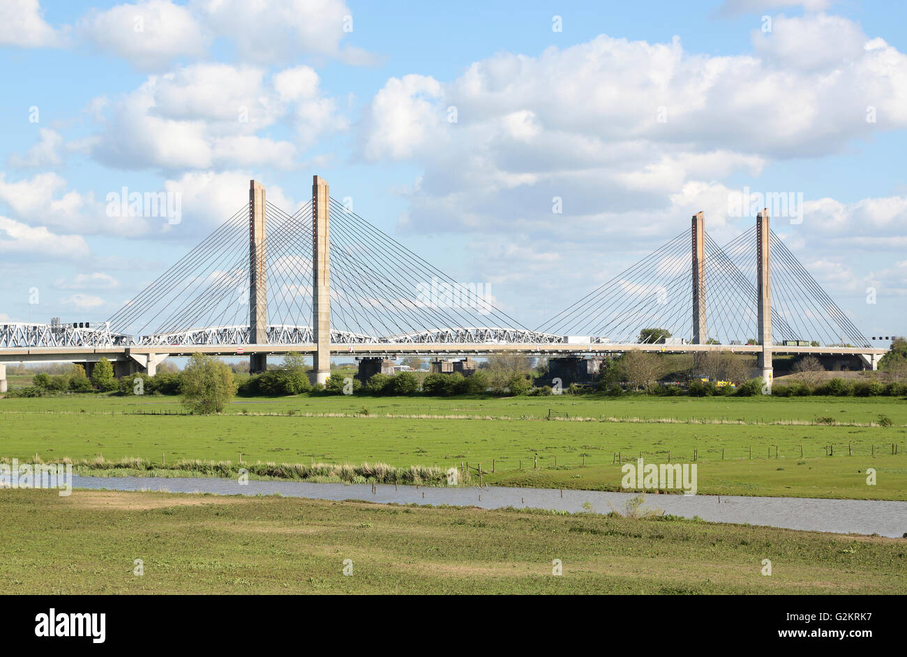 View on the Martinus Nijhoffbridge in the Netherlands - Stock Image