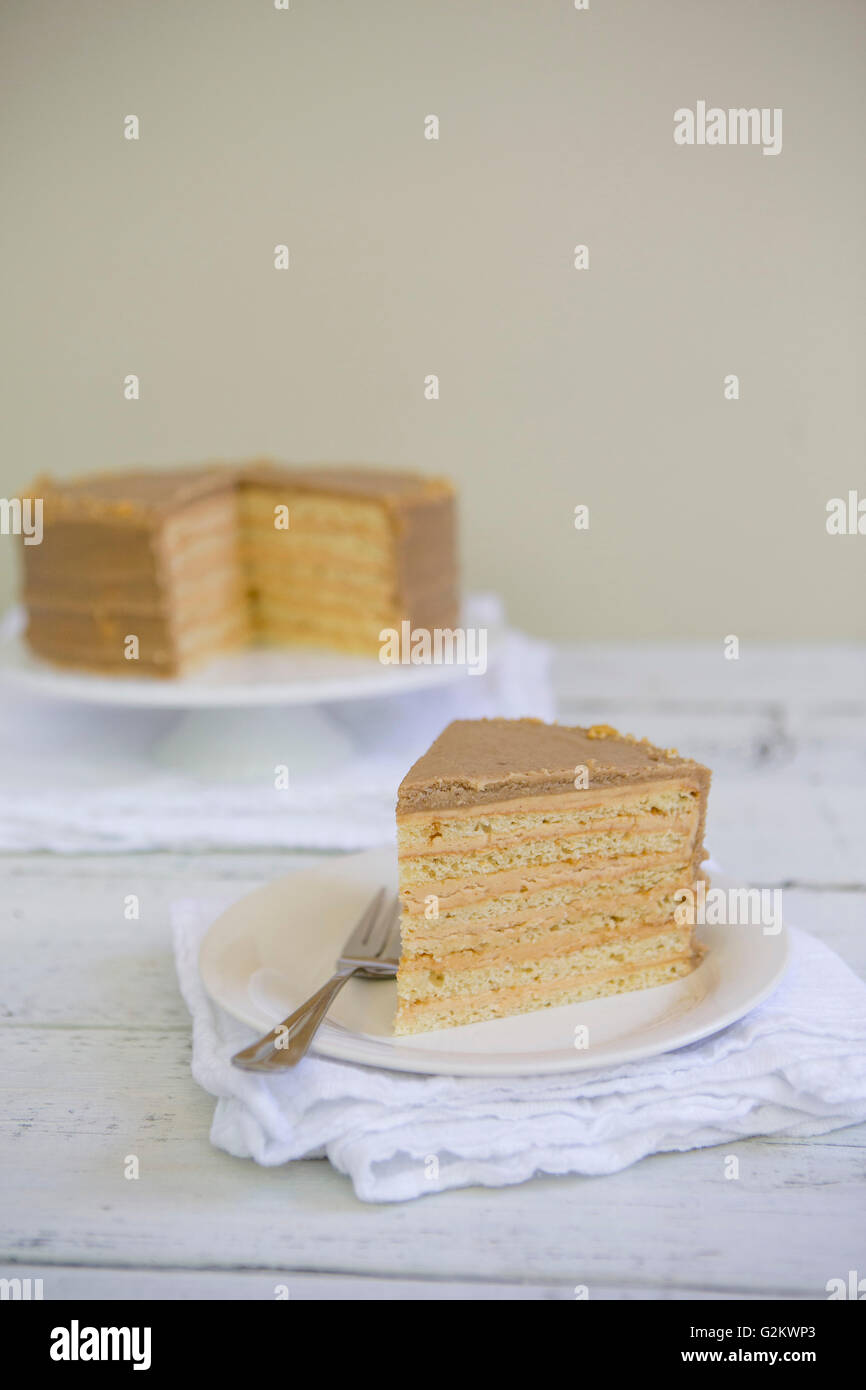 Brittle Cake - Stock Image