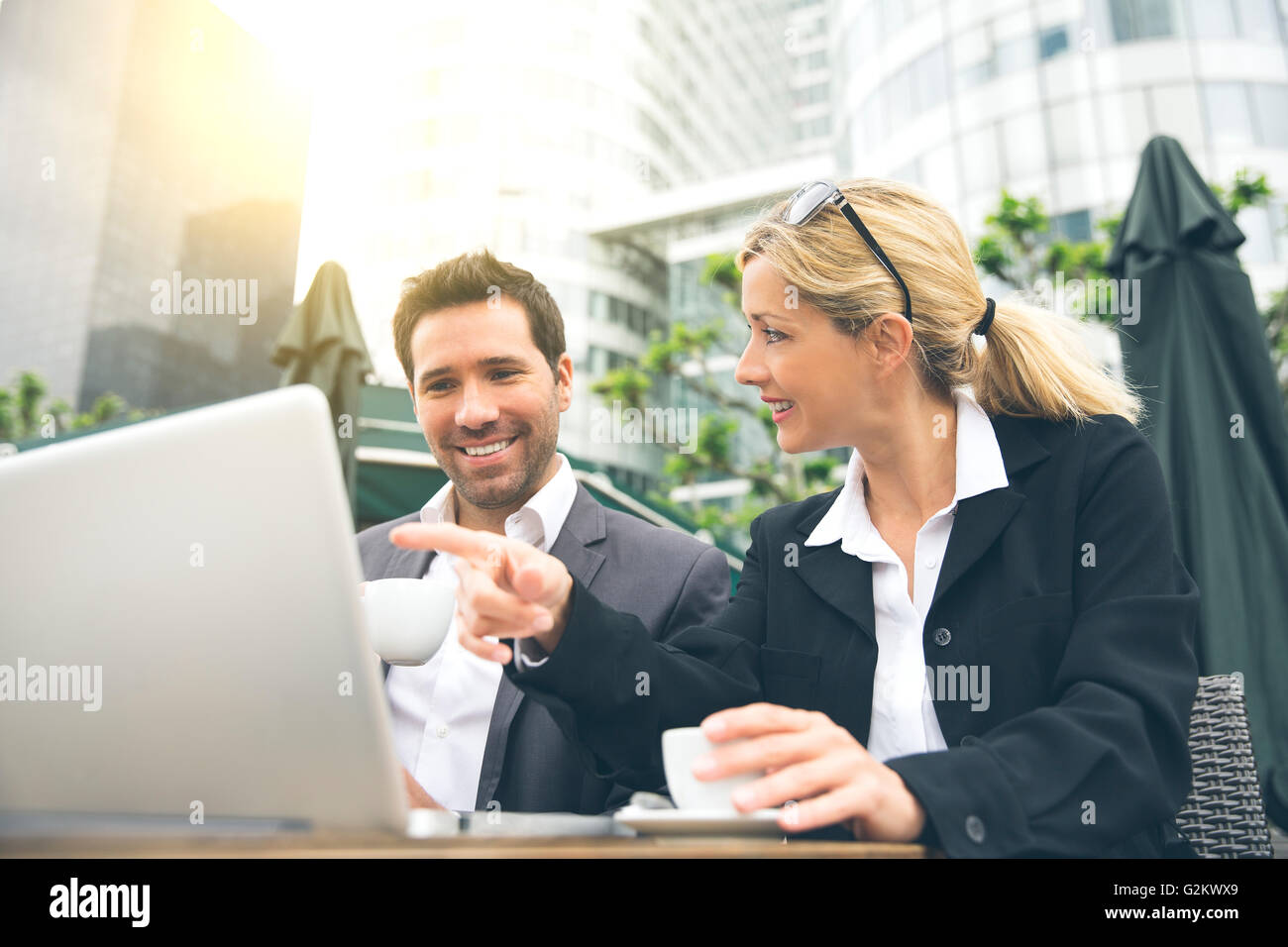 Business people meeting for a coffee break - Stock Image