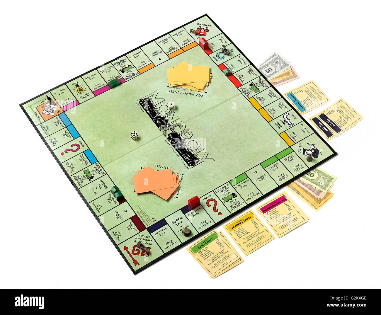 Monopoly Board Game Stock Photos Images Circuit Diagram Laid Out For A Image
